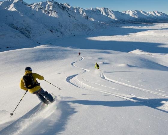 Jeremy Benson at Majestic Heli ski, Alaska