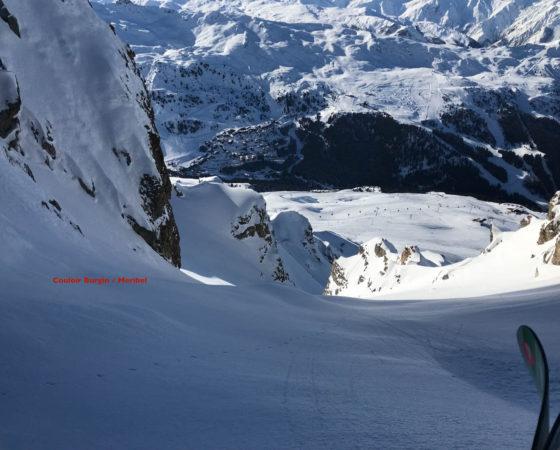 dent de burgin Méribel - L'Or Blanc ski hors piste