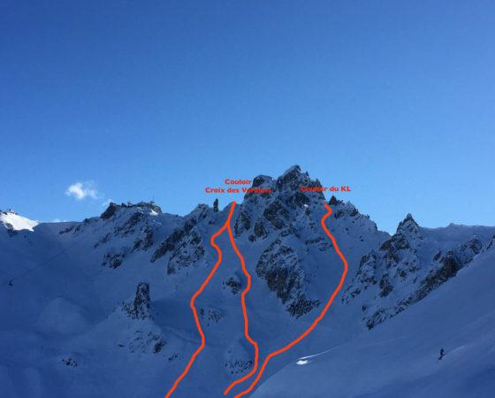 Couloirs de la Saulire - L'Or Blanc ski hors psite