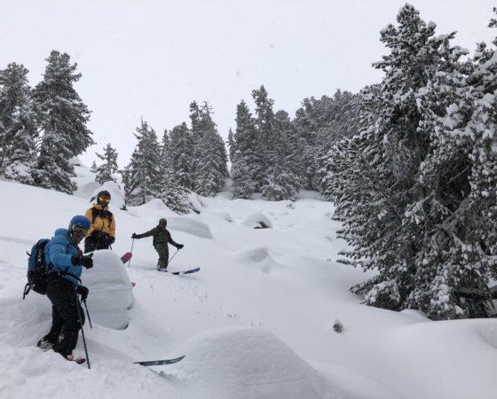 Courchevel Meribel ski hors psite