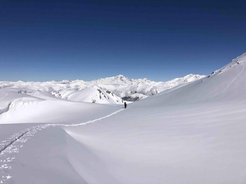 ski de randonnées courchevel , roc merlet , L'Or Blanc